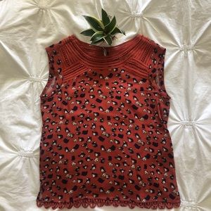 Anthropologie meadow rue sleeveless blouse